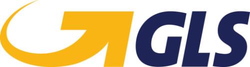 Vi sender med GLS logo